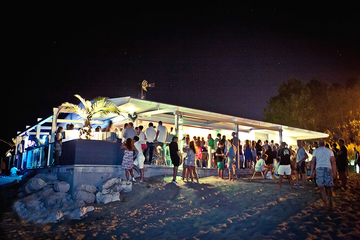 Beach party Punta Faro, vicino al faro di Lignano