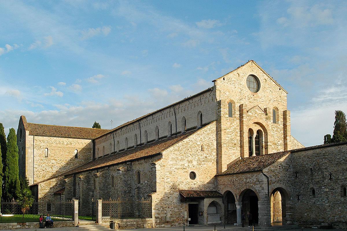 Aquileia veduta della Basilica Romanica