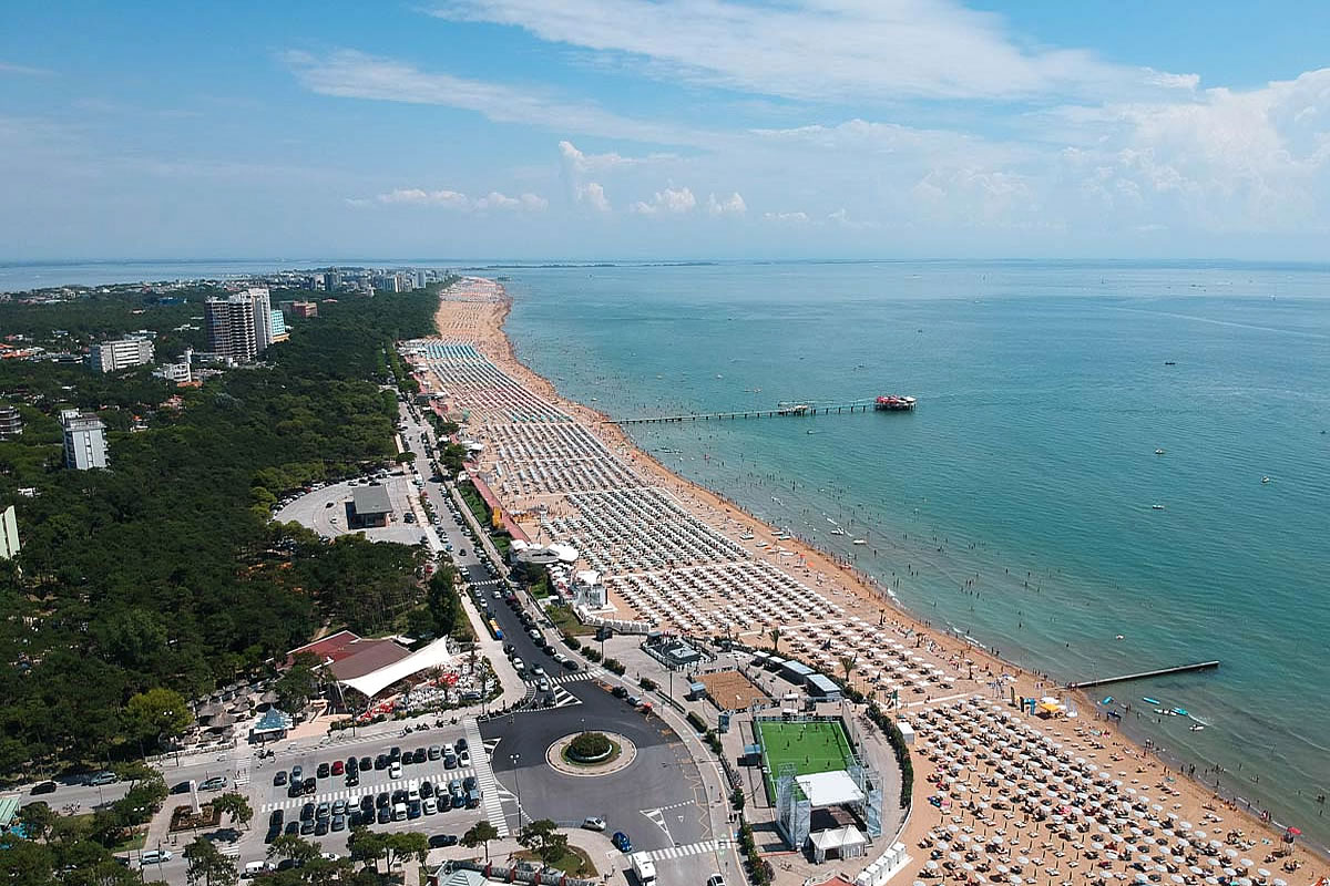 Spiaggia a Lignano Pineta