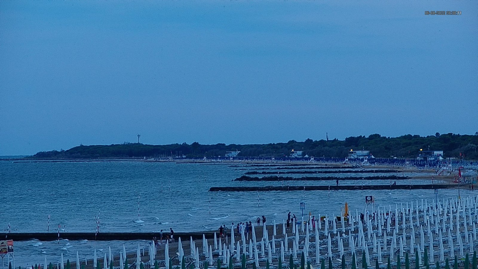 Webcam in Lignano Riviera view onto the beach