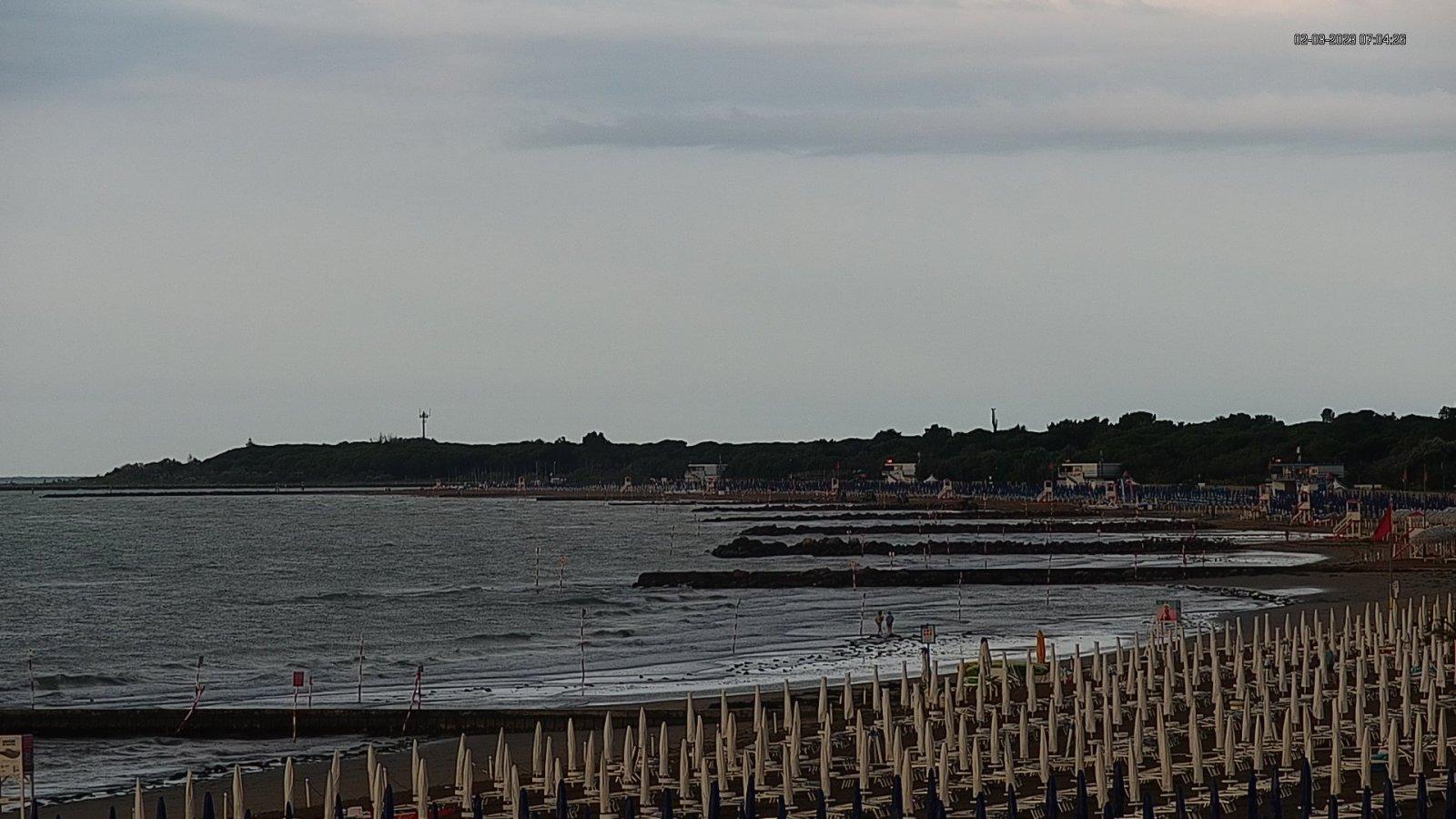 Webcam a Lignano Riviera con veduta sulla spiaggia