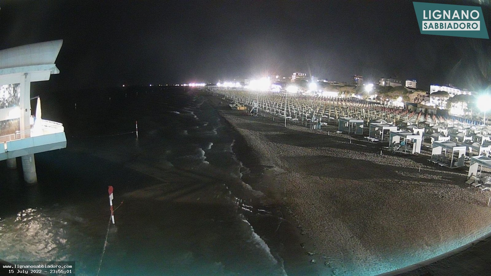 Webcam a Lignano Sabbiadoro, panoramica nord est con isola delle conchiglie