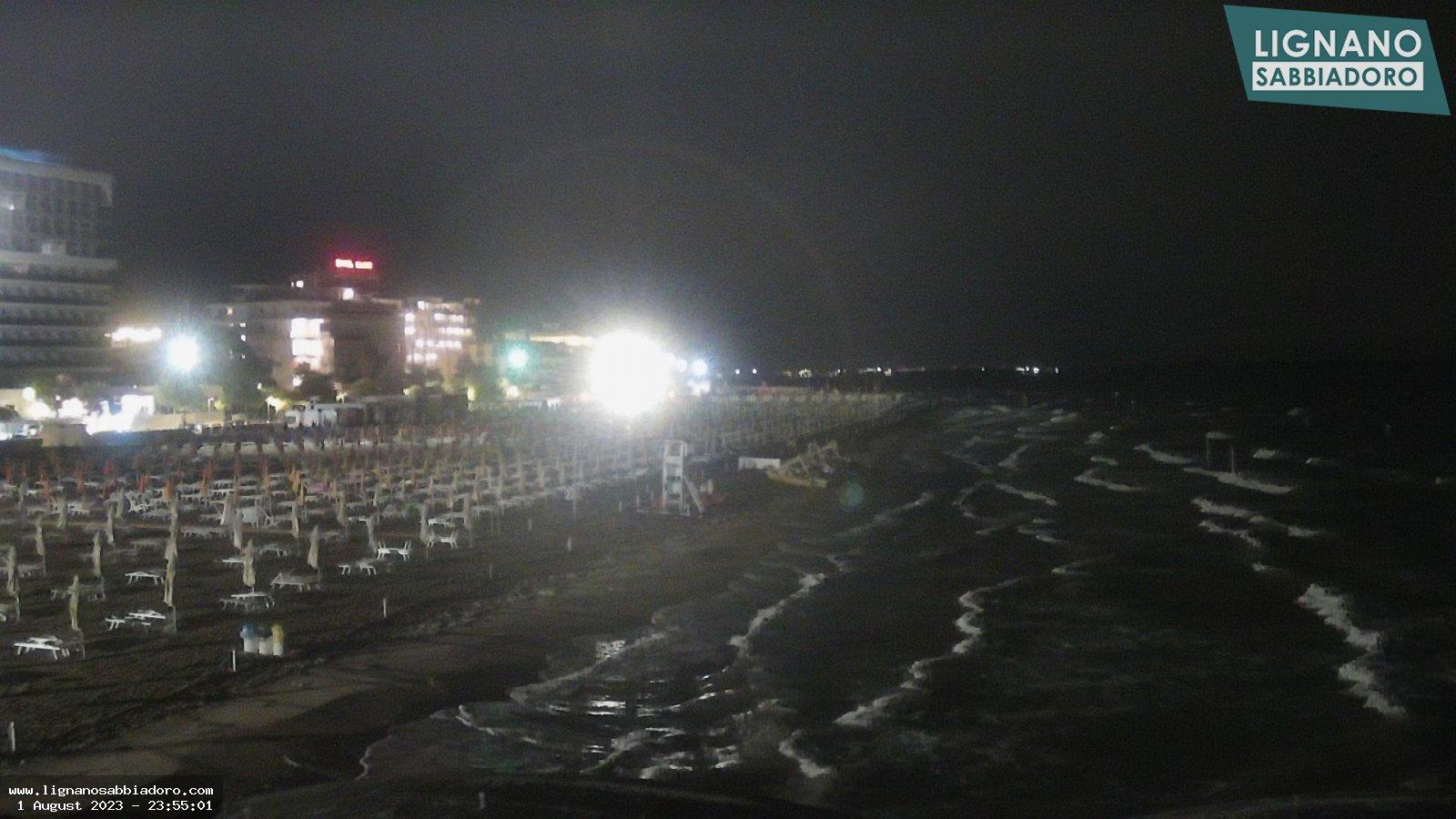 Webcam a Lignano Sabbiadoro, panoramica su spiaggia VIP