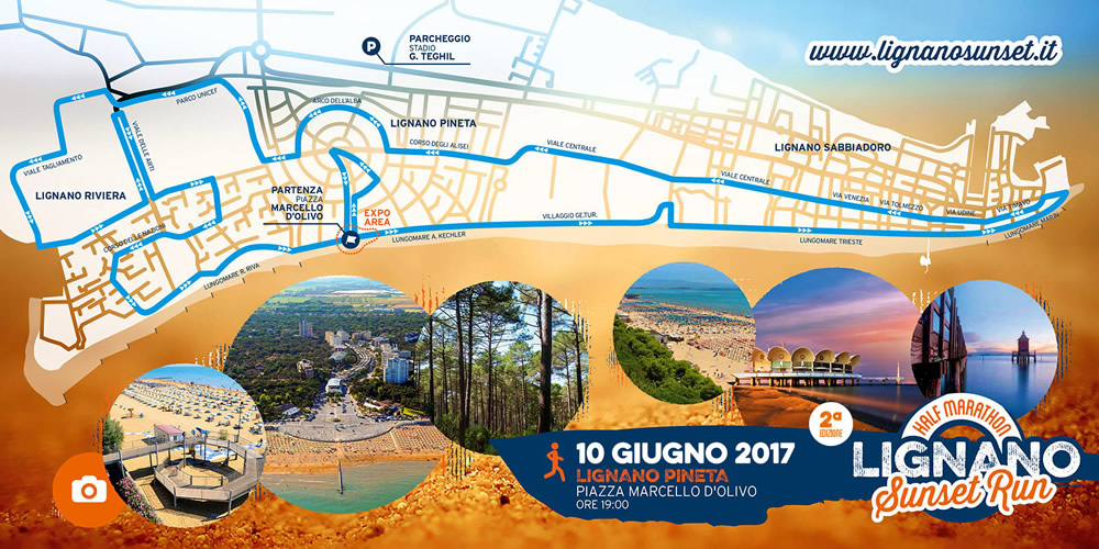 Percorso competitivo Sunset run half marathon