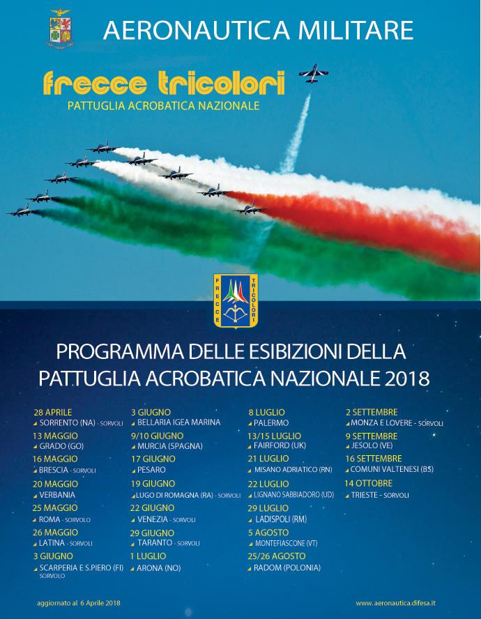 Frecce Tricolori Air Show Lignano Sabbiadoro 22 Luglio 2018